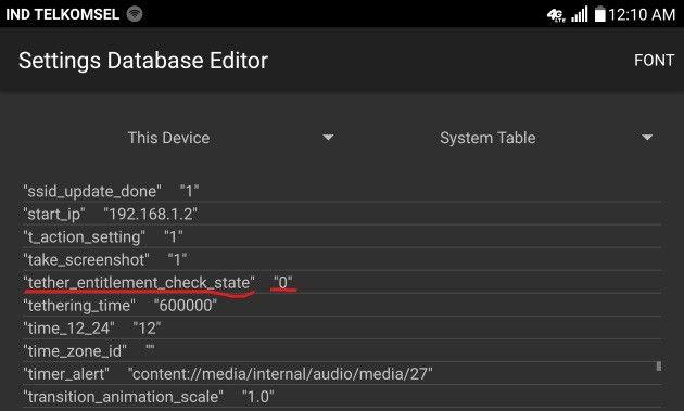 Aplikasi untuk mengaktifkan Hotspot pada LG H900 AT&T